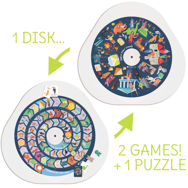 DiskCover History board game for MUtable is composed of one game and one puzzle!