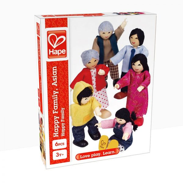 Box of Asian Happy Family by Hape Toy