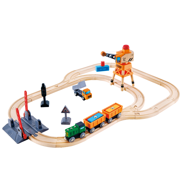 Crossing and Crane Set by Hape Toys
