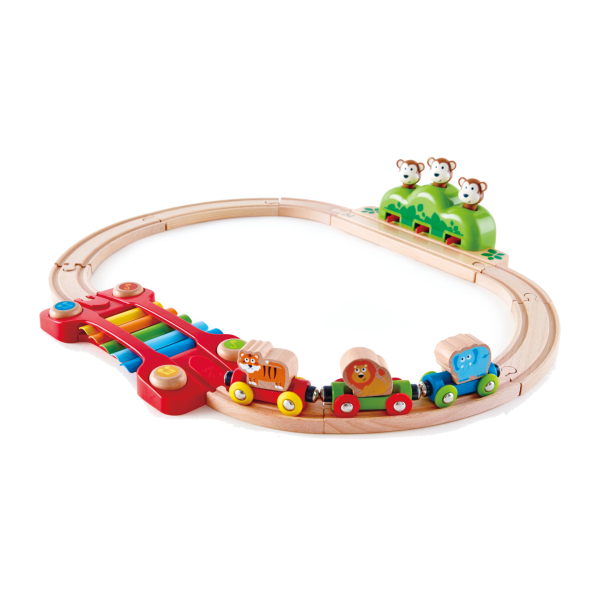 Set of Music and Monkeys Railway by Hape Toys for MUtable