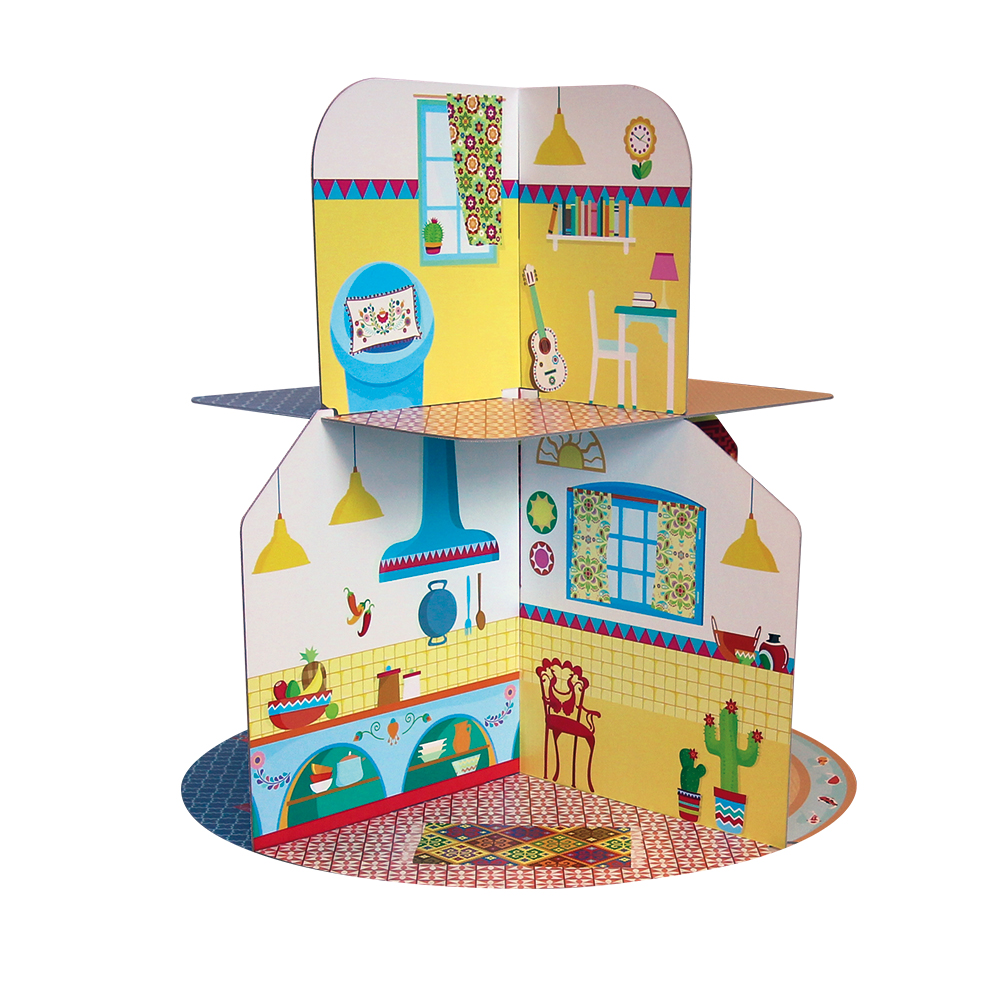 Houses Of The World Cardboard Playhouse Plus Book Mutable