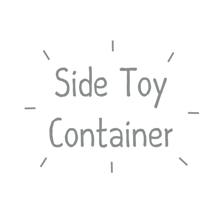text side toy container
